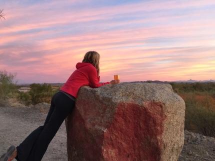 Sunrise, Mitrey Lake in Yuma
