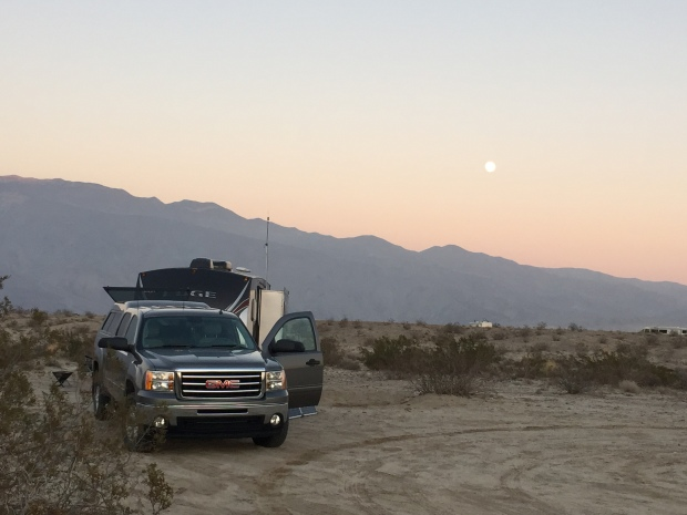 Full moon over Borrego Springs