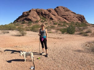 Flat trails around Papago Park